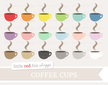 Coffee Cup Clipart; Mug, Tea, Cup, Hot Chocolate