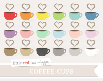 Coffee Cup Clipart; Mug, Tea, Cup, Hot Chocolate