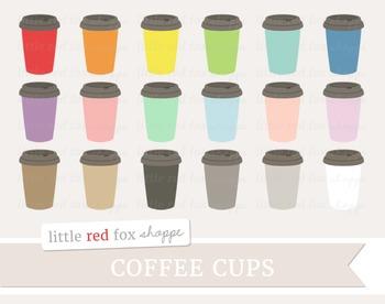 Coffee Cup Clipart; Mug, To Go Cup, Tea, Hot Chocolate