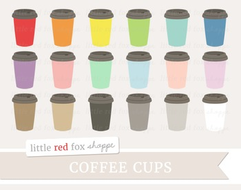 Coffee Cup Clipart; Mug, To Go Cup, Tea, Hot Chocolate