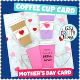 Coffee Cup Mother's Day Card Template