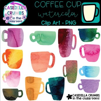Coffee Cup Watercolor Clip Art - 14 Images