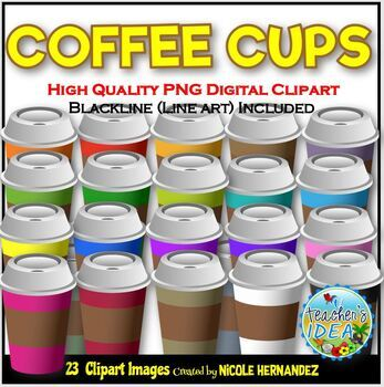 43 Coffee Cup Clipart Printer clipart Personal and comercial use.