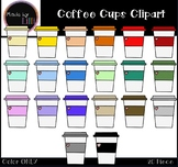 Coffee Cups Clipart / Coffee Clipart / Valentine's Day Cli