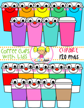 Coffee Cups with Lids Clipart