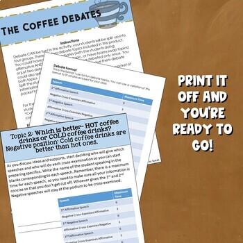 Coffee Debate Activity - Value