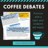 Coffee Debate Activity - Value
