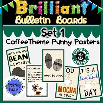 Starbucks Coffee Shop Theme Quotes Posters with Puns by ...