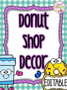 Coffee/Donut Shop/Cafe Classroom Decor EDITABLE