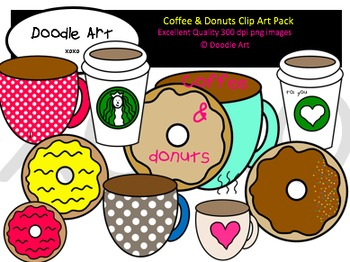 Coffee & Donuts Clipart Pack
