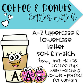 Coffee & Donuts Uppercase and Lowercase Letter Match
