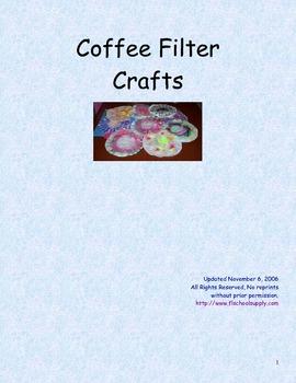 Coffee Filter Crafts Preschool / Kindergarten Curriculum