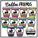 Coffee Friends FREEBIE (Clip Art for Personal & Commercial Use)