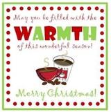Coffee Gift Tags - Christmas