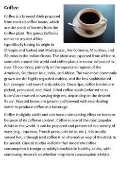 Coffee Handout