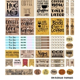 Coffee Happy Planner Printable Sticker Page