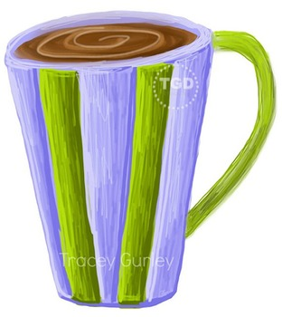 Coffee, Hot Cocoa Painting, Printable Tracey Gurley Designs