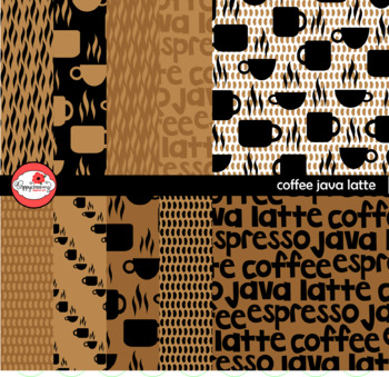 Coffee Java Latte Digital Paper by Poppydreamz