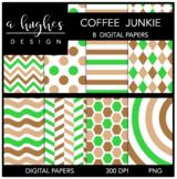 12x12 Digital Paper Set: Coffee Junkie {A Hughes Design}