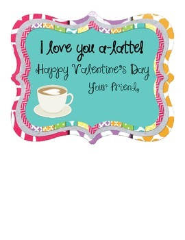 Coffee Lover's Valentine's Day Cards