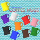 Coffee Mug Clipart, 10 Colorful Mugs