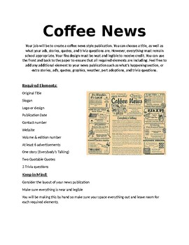 Coffee Newsletter Project