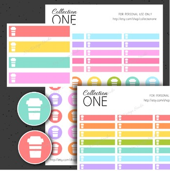 Coffee Planner Stickers - Printable Planner Stickers, Teacher
