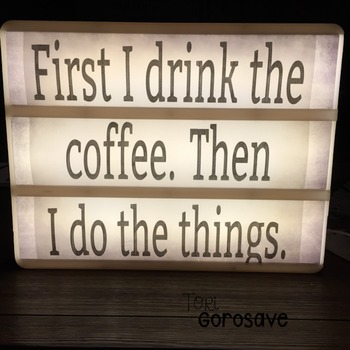 Coffee Quotes Light Box Design {Dollar Deals}