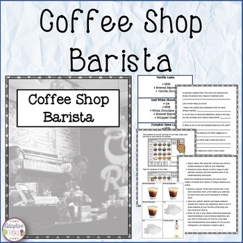 Coffee Shop Barista Information and Task
