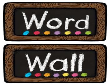 Coffee Shop Chalkboard Theme Word Wall (Editable)
