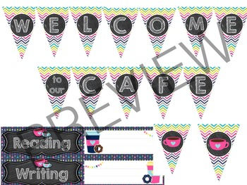 Coffee Shop Classroom Decor Theme- Brights and Chalkboard