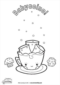 Coffee Shop Coloring Sheets