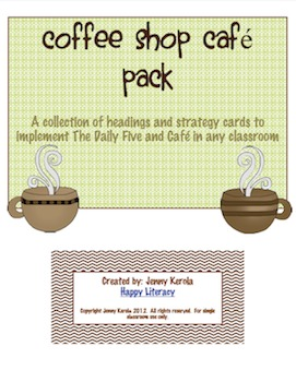 Coffee Shop Daily Five and Cafe Bundle