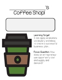 Coffee Shop - Economics Project Based Learning