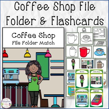 Coffee Shop File Folder and Flashcards