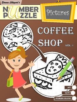 Coffee Shop Number Puzzle Pictures Volume I