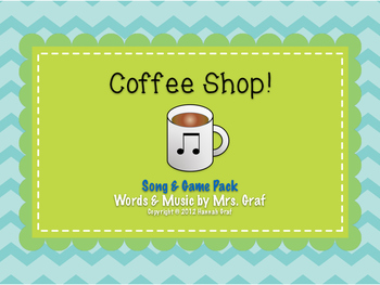 Coffee Shop - Song & Game Pack