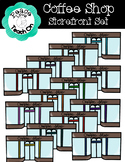Coffee Shop Storefront Set by Peace Love Teach On