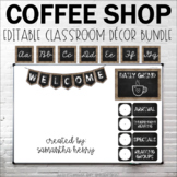 Coffee Shop Classroom Decor (EDITABLE)