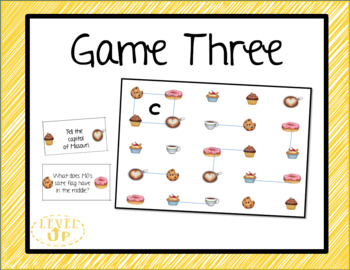 Coffee Shop Themed Editable Game Boards