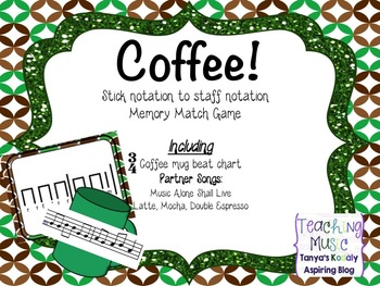 Coffee! Stick to Staff Song Memory Match
