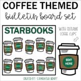 Coffee Themed Bulletin Board (editable)