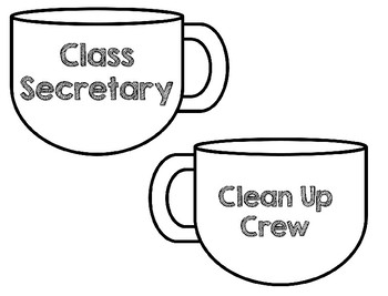 Coffee Themed Classroom Jobs