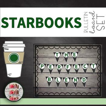 "Coffee Themed Pennant Banner ""WE ARE THE PERFECT BLEND"" Starbooks STARBUCKS"