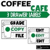Starbooks Coffee Themed Sterilite 3 Drawer Labels Chalkboard