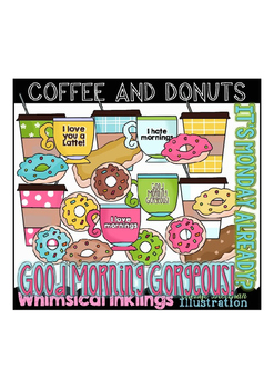 Coffee and Donuts Clipart Collection