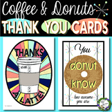 Coffee and Donuts Thank You Cards