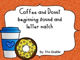 Coffee and Donuts beginning sound and letter match
