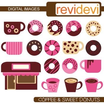 Coffee and Sweet Donuts Clip art