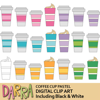 Coffee cup clip art - clipart for planner